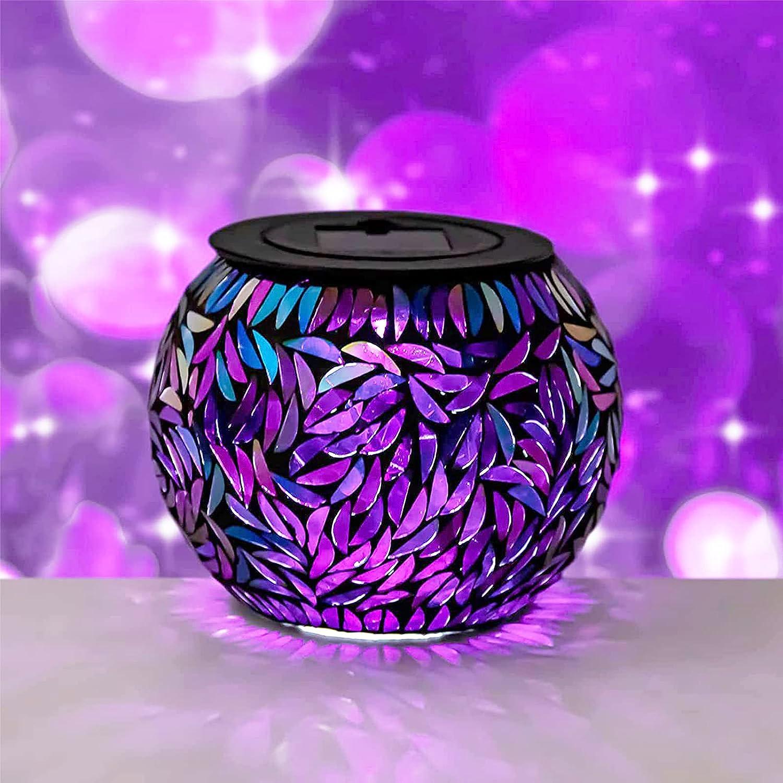 Mosaic Solar Light Jar Lantern - Waterproo Theme Lamp Leaf Max 69% OFF Ranking TOP14 Table