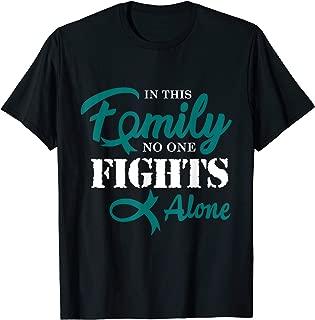 Ovarian Cancer Awareness Fight Cancer Ribbon T-Shirt