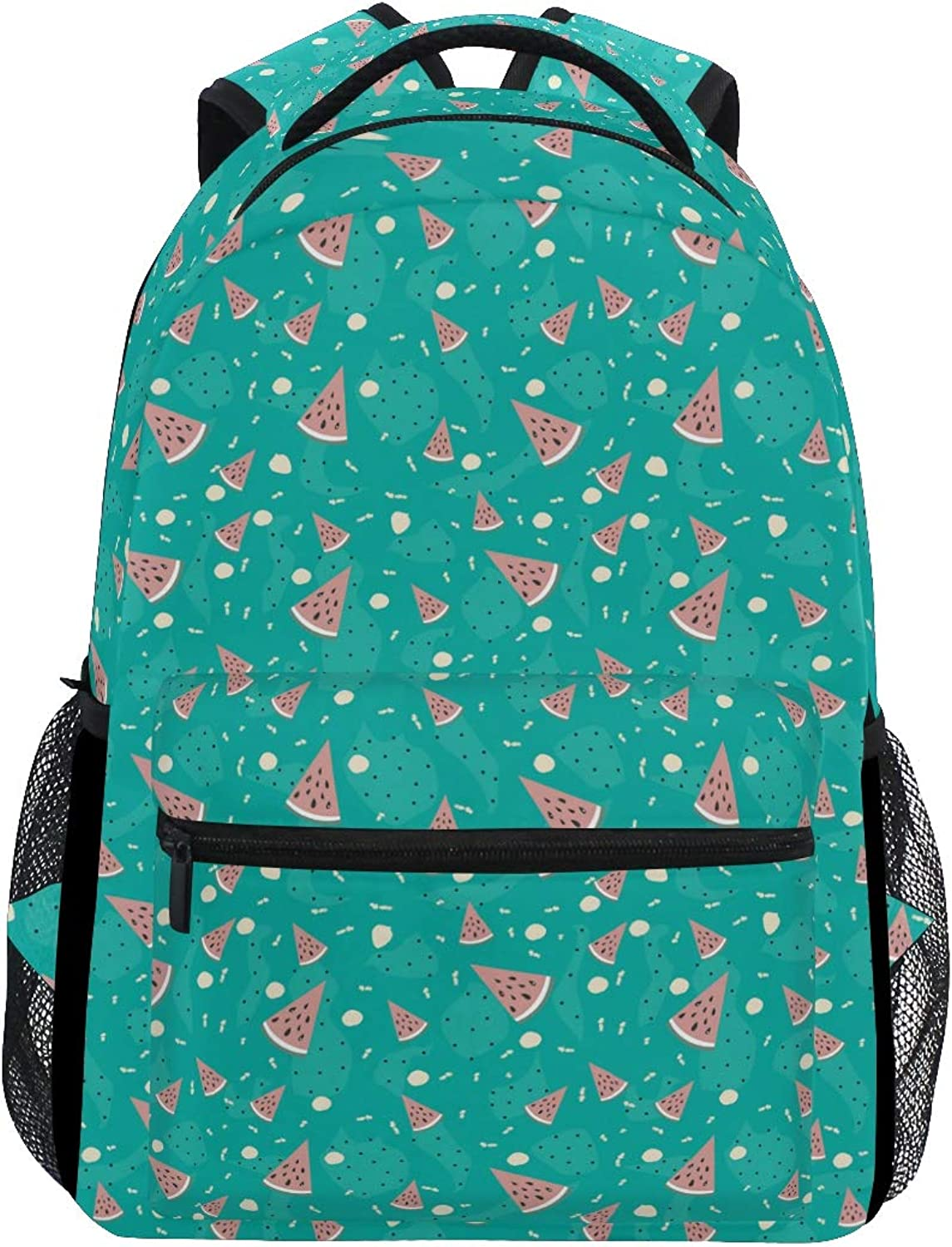 Summer Watermelon Green Trekking Backpack Fashion Backpack Oversized Backpack Men and Women Durable Travel Computer Backpack 17 Inch Notebook Waterproof Large Business Bag