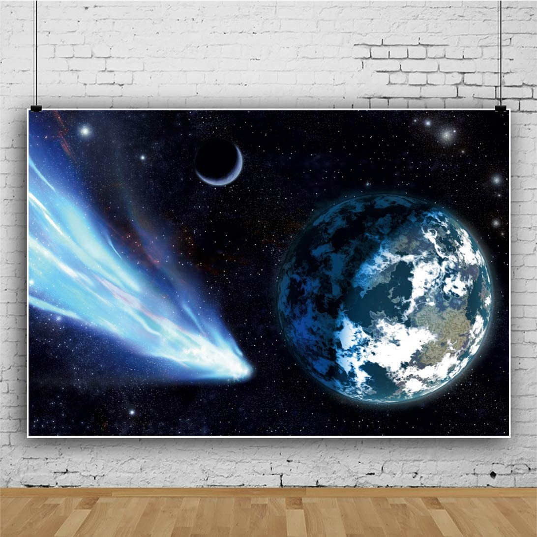 Haoyiyi 10x6.5ft Universe Background uter Space Planet Galaxy Nebula Starry Sky Backdrop Photography Photo Kids Boy Birthday Baby Shower Adventure Travel Shoots Video Wallpaper Poster