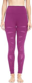 QUEENIEKE Women Mesh Leggings High Waist Gym Yoga Pants for Running Fitness