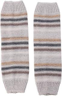 Calentadores para Las piernas Rayas de Invierno otoñal a Juego Lana Tejida Calcetines Calientes Mangas Botas Leggings