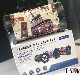 FidgetKute New Portable Radio Digital Boombox with MP3 TF USB FM RADIO  XC-002 Multicolor MPN Type Design One size