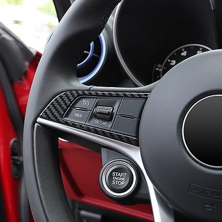 Lopbinte Carbon Fiber For Alfa Romeo Giulia Stelvio 2016 2017 2018 Abs Chrome Center Air Conditioning Adjustment Frame Trim Car Accessory Interior Fittings Ecog Interior Mouldings