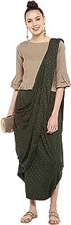 Janasya Women's Rayon Flex Dhoti Style Saree With Blouse