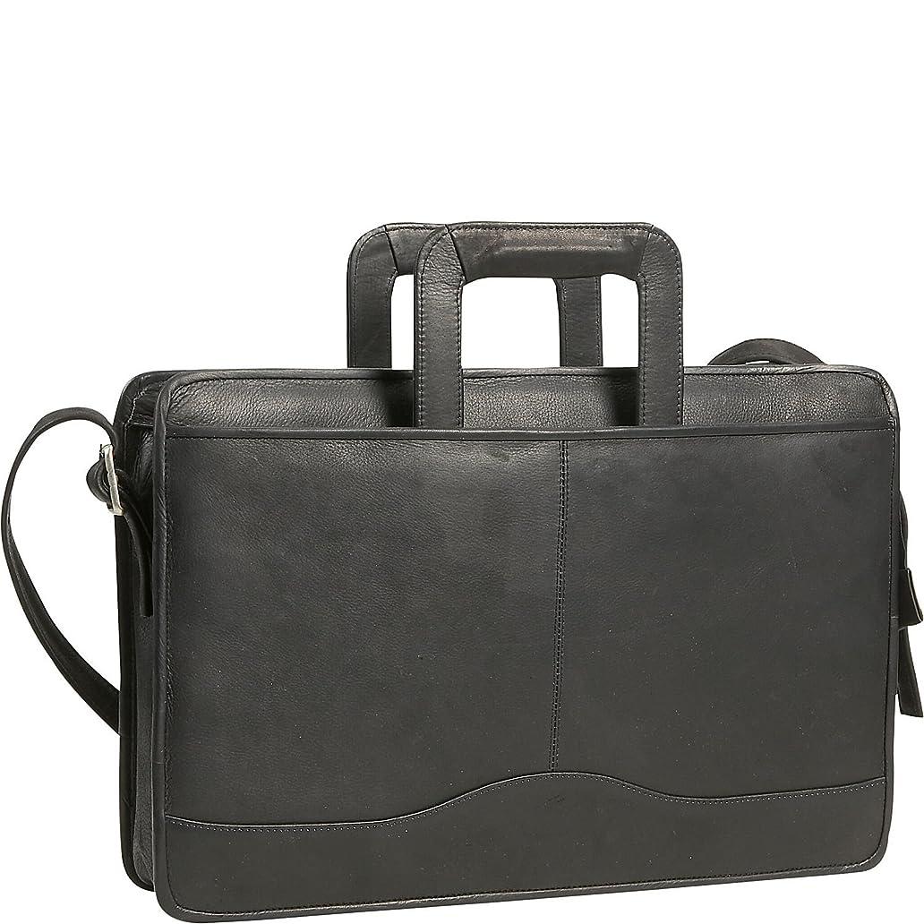 David King Leather Single Gusset Drop Handle Portfolio in Black bcg6753283