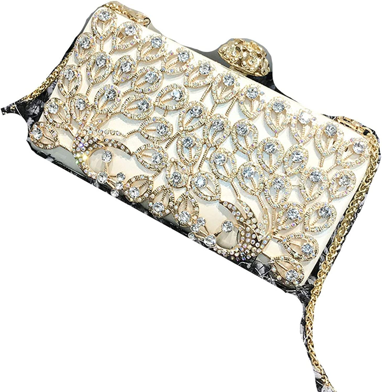 2019 Summer New Fashion Diamond Peacock Clutch Temperament Chain Shoulder Messenger Bag