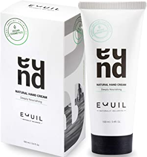Natural Hand Cream by Equil – Soothes dry and cracked hands – Get soft & smooth hands – Perfect for Day & Night Use – Jojoba Oil - Avocado Oil - Sweet Almond Oil – Lemon Oil – 3.4 fl. Oz