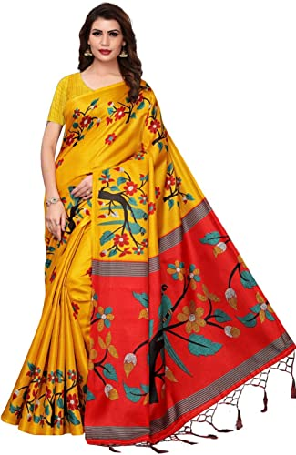 Traditional Fashion Women s Khadi Georgette Saree With Blouse Piece