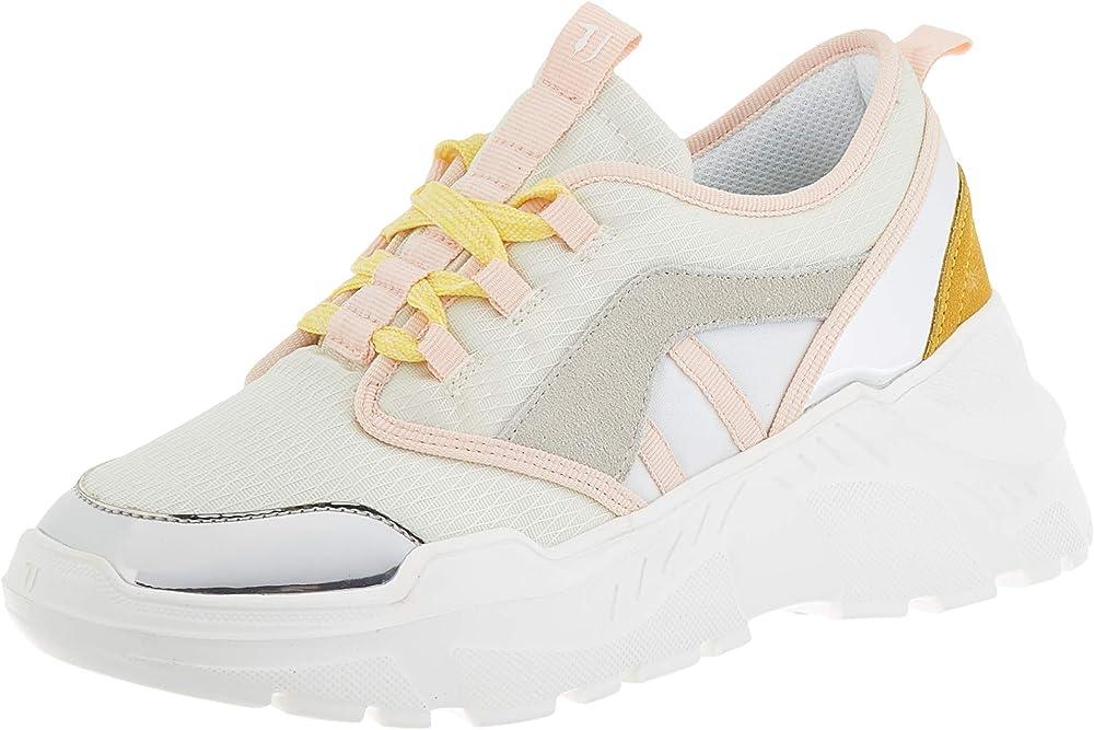Trussardi jeans ,sneakers per donna,scarpe con lacci donna,in pelle scamosciata 79A004929Y099998