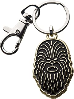 Star Wars: The Rise of Skywalker, Unisex Adult, Star Wars Episode 9 Chewbacca Head with Stainless Steel Key Chain, Silver,...