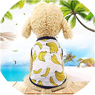 PG-One Dog Couple Tshirt Dress Puppy Couple Outfit Summer Sweet Pet Clothes for Small Dogs Chihuahua Yorkshire Cat Clothing Vest Shirt