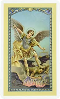 Saint Michael the Archangel, Clear Holy Cards - Set of 5