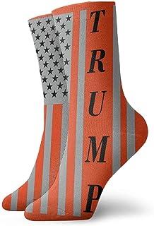 Kevin-Shop, Trump American Flag 2020 Fashion Short Crew Sock Athletic Tobillo Calcetín Talla única para Hombres Mujeres