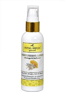 Petal Herbs Ayurveda Moringa & Safflower Moisturizing Lotion to lighten the dark spots 100 ml : Paraben Paraffin Free
