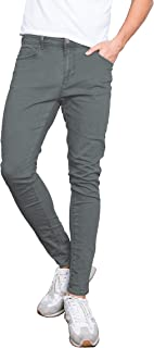 X RAY Mens Slim Fit Colored Jeans Pants Casual Super Stretch Straight Leg Cotton Super Comfy Five Pocket Jean