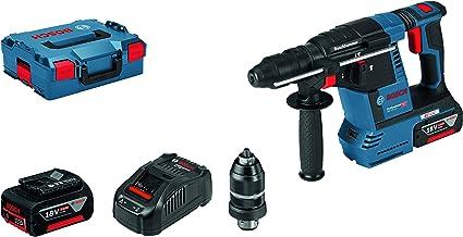 Bosch Professional GBH 18V-26 F - Martillo perforador combinado a batería (2 baterías x 5,0 Ah, 18V, 2,6 J, Ø máx. hormigón 26 mm, SDS plus, en L-BOXX)