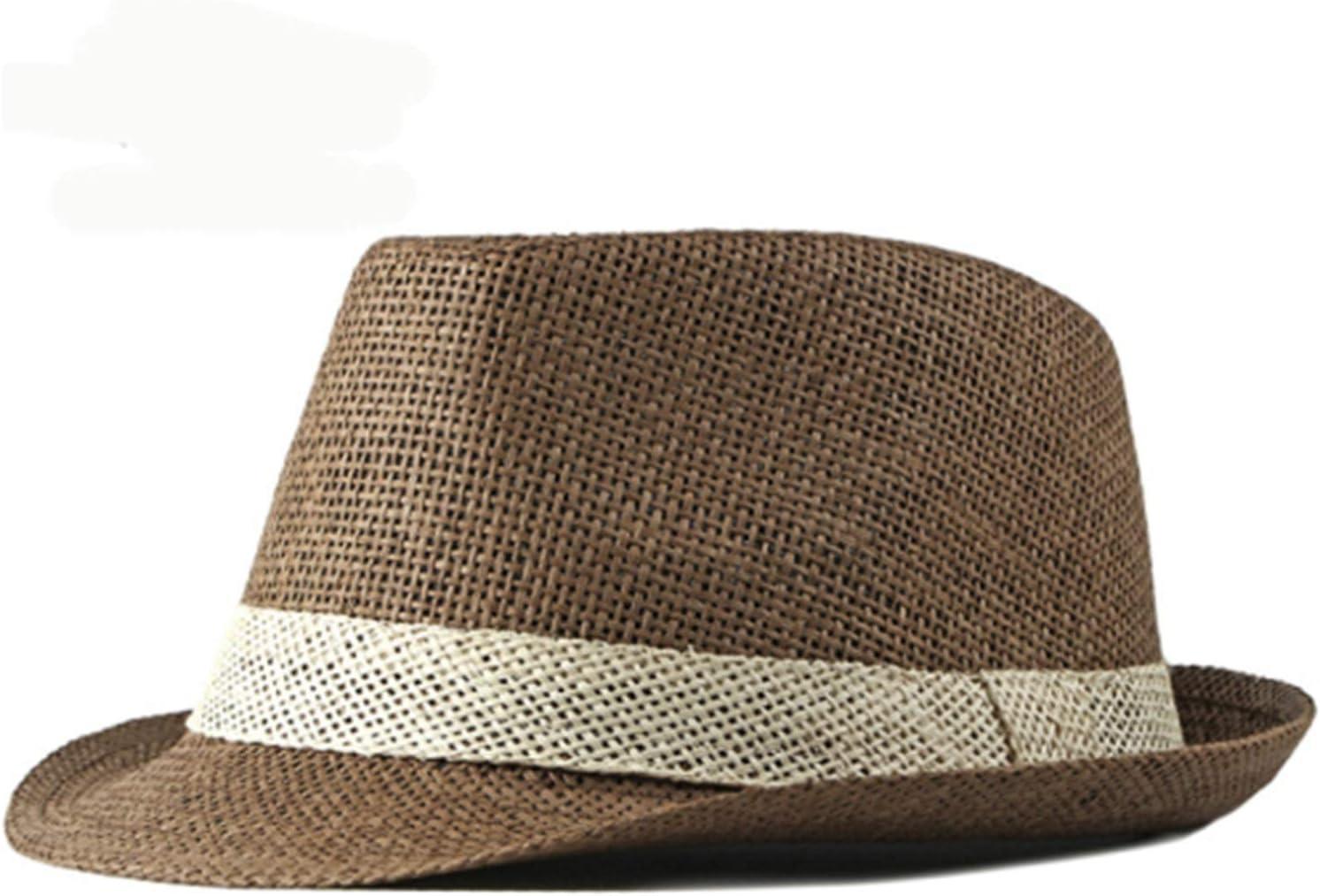 CHENGCHAO Sun hat Summer Women Sale Special Price Men P Trilby Brim Hat Short mart Straw