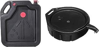 Hopkins 16-Quart Oil Drain Container bundle with FloTool 15-Quart Oil Drain Pan