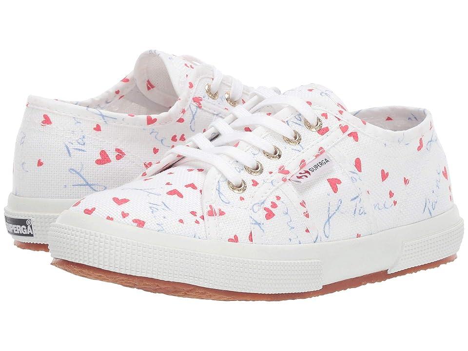 Superga Kids 2750 Printed COTJ (Toddler/Little Kid) (Red Floral) Girls Shoes