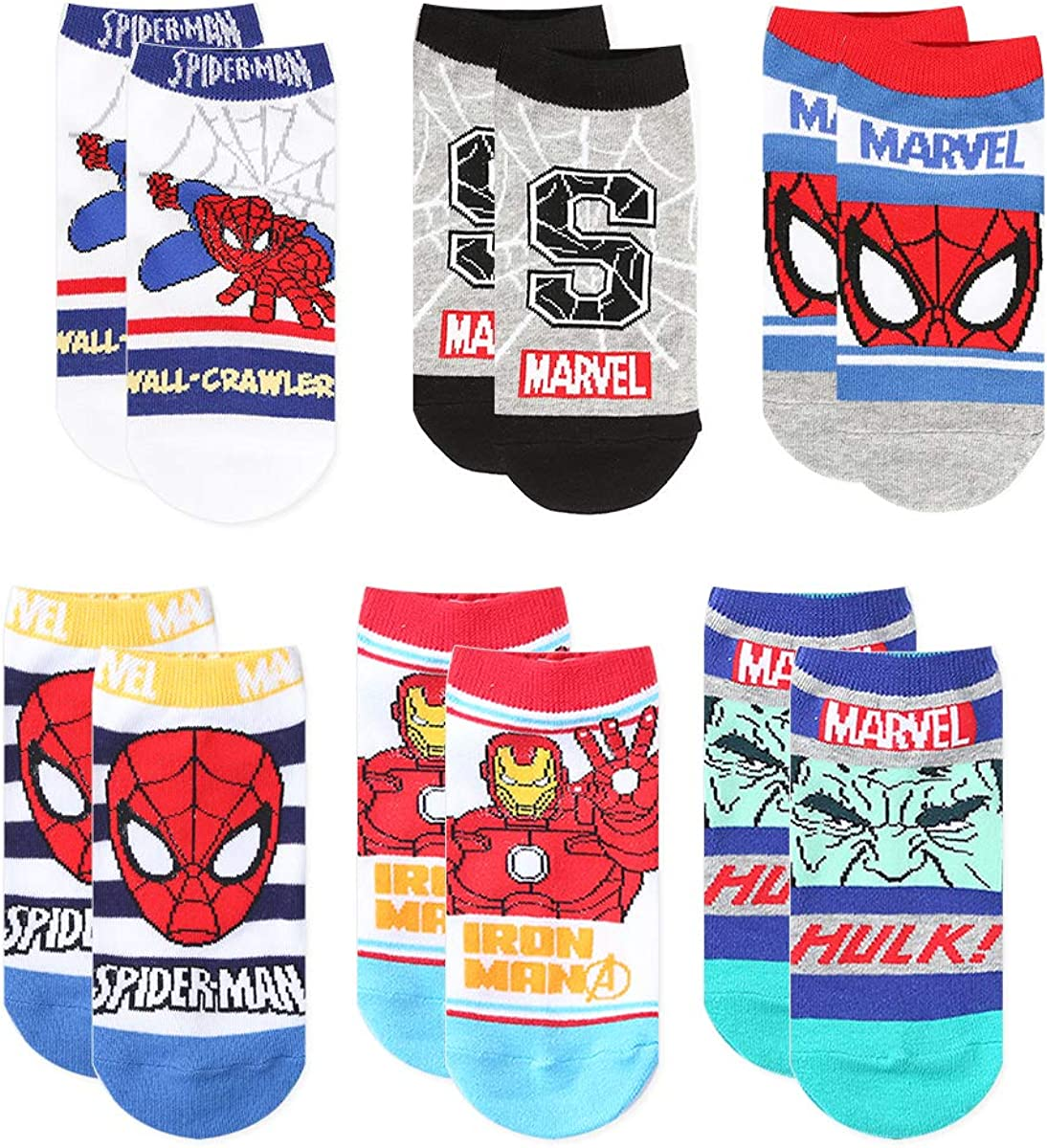 6 Pairs Premium No Show Socks for Boys