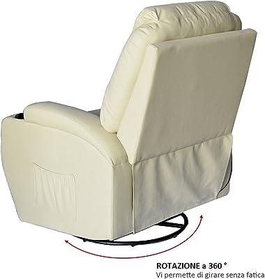 Poltrone Relax Massaggio Prezzi.Homcom Poltrona Relax Massaggio Reclinabile A 8 Punti Poltrona Tv
