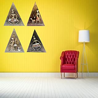 Wall Painting Triangle Shape for Home Office Decor II Handcrafted Modern Art Painting Wall Hanging Art II Home Wall Decor ...