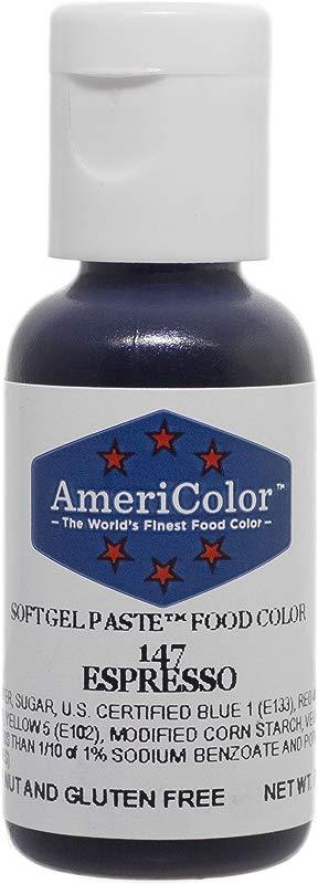 Americolor Soft Gel Paste Food Color Espresso 75 Ounce Bottle