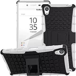 Sony Xperia Z5 Premium Case - Tauustore Bright Shockproof Slim Soft TPU PC Durable Protective Case Cover and Kickstand for Sony Xperia Z5 Premium - White