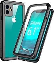 Singdo Designed for iPhone 11 Case,Built-in Screen Protector Cover 360 Degree Protection Rugged HD Clear Shockproof Bumper Case for iPhone 11 (6.1 Inch)-2019 Black/Clear