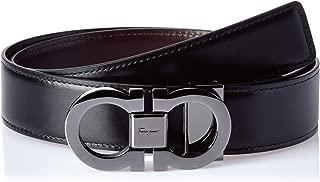 Salvatore Ferragamo Men's Double Gancini Reversible Belt