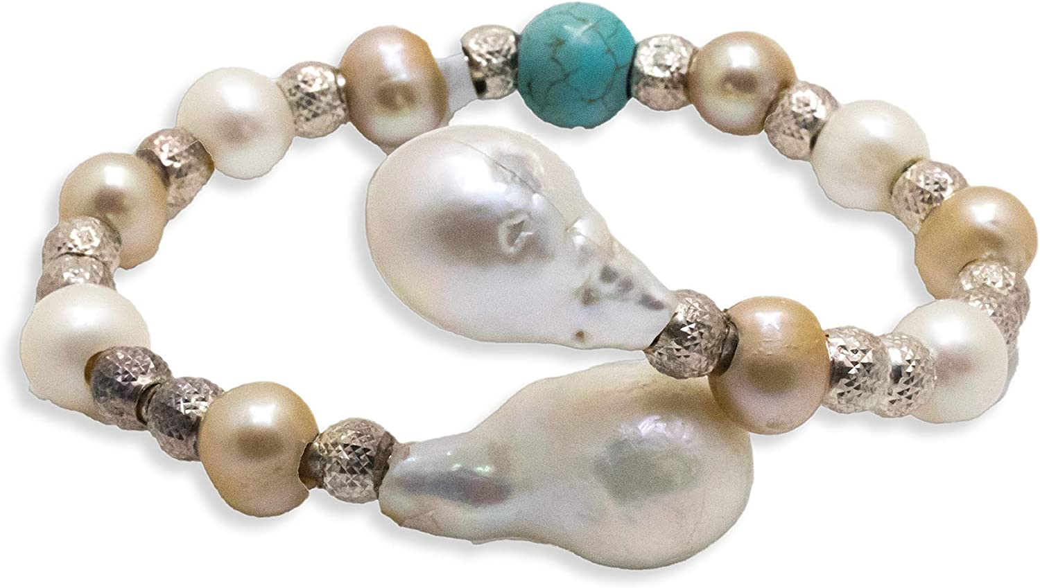 Kaufmann De Suisse The Palm Genuine Free Shipping favorite Beach Sp and Pearl Gold White Lariat
