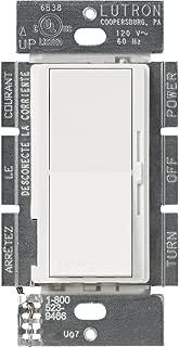 Lutron DVLV-600P-WH 600-Watt Diva Magnetic Low-Voltage Single-Pole Dimmer, White
