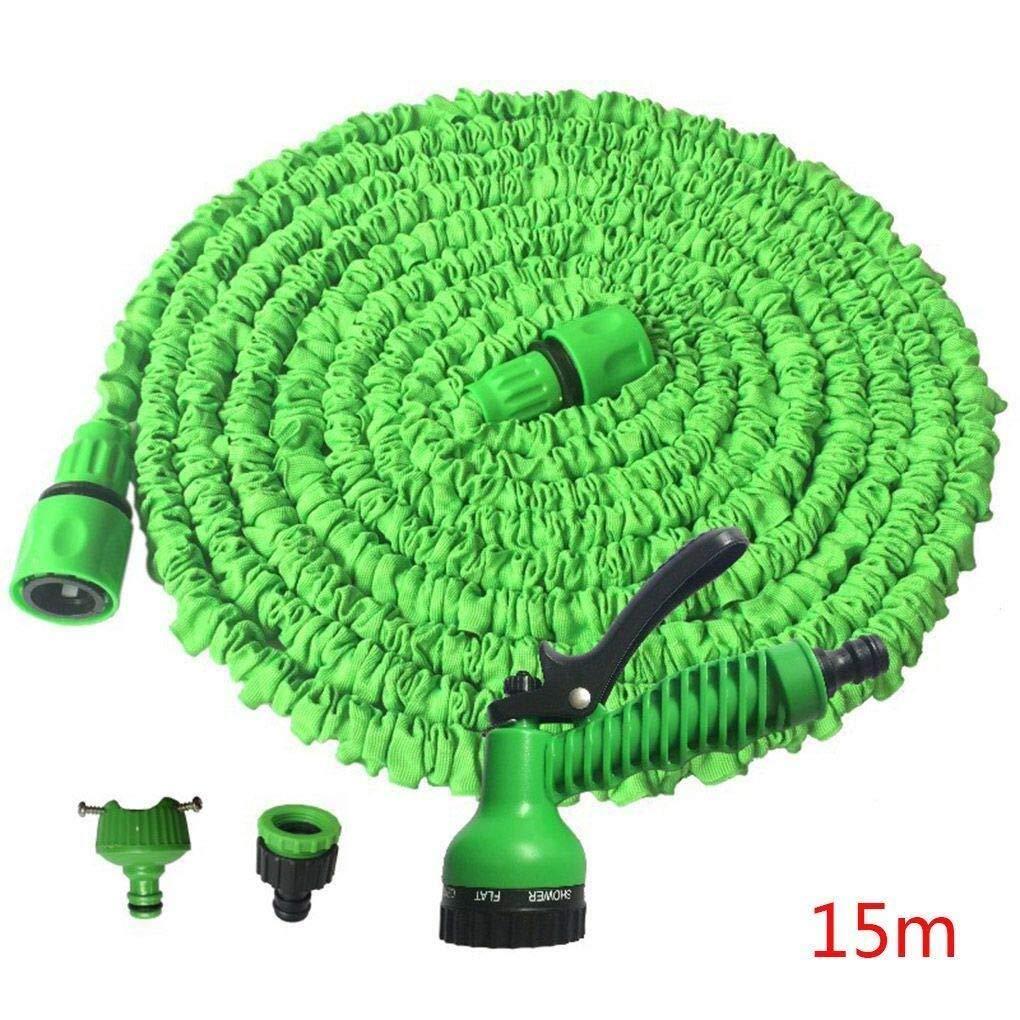 Sistema de riego de jardín Zeagro Extensible Flexible Jardín Agua Mangueras de plástico Tubo Spray de riego - Green4: Amazon.es: Hogar