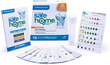 10% OFF MSRP HOLIDAY SALE – Safe Home STARTER-15 Water Quality Test Kit – DIY Testing for 15 Different Contaminants – GREAT STOCKING-STUFFERS for Your Loved Ones!