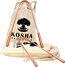 Kosha Ayurveda Copper Tongue Scraper Cleaner | Perfect Surgical Tongue Scraper | Best remedy for bad breath | Maintains Oral Hygiene | Thick & Safe Blunt Edges | Flexible handle and Comfortable Grip