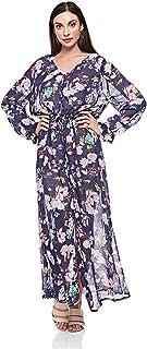 Brave Soul Wrap Dress for Women - Multi Color - 18 UK