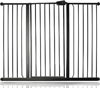 Bammax Barri/ère de S/écurit/é Enfant Enfants et Animaux de Compagnie Grille de Protection Pliable Extensible en M/étal pour Chemin/ée Portes pour B/éb/és Cuisini/ère Blanc