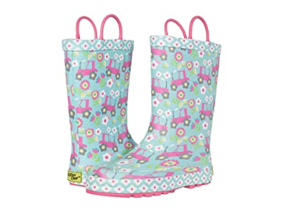 Western Chief Kids Floral Farm Rain Boots (Toddler/Little Kid) (Sky Blue) Girl