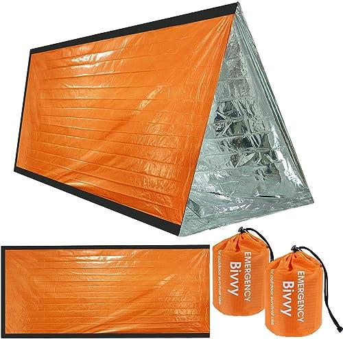Couvertures de Survie durgence Pet Isolation Couvertures durgence /Équipement de Survie Parfait pour Les Adultes et Les Enfants dor