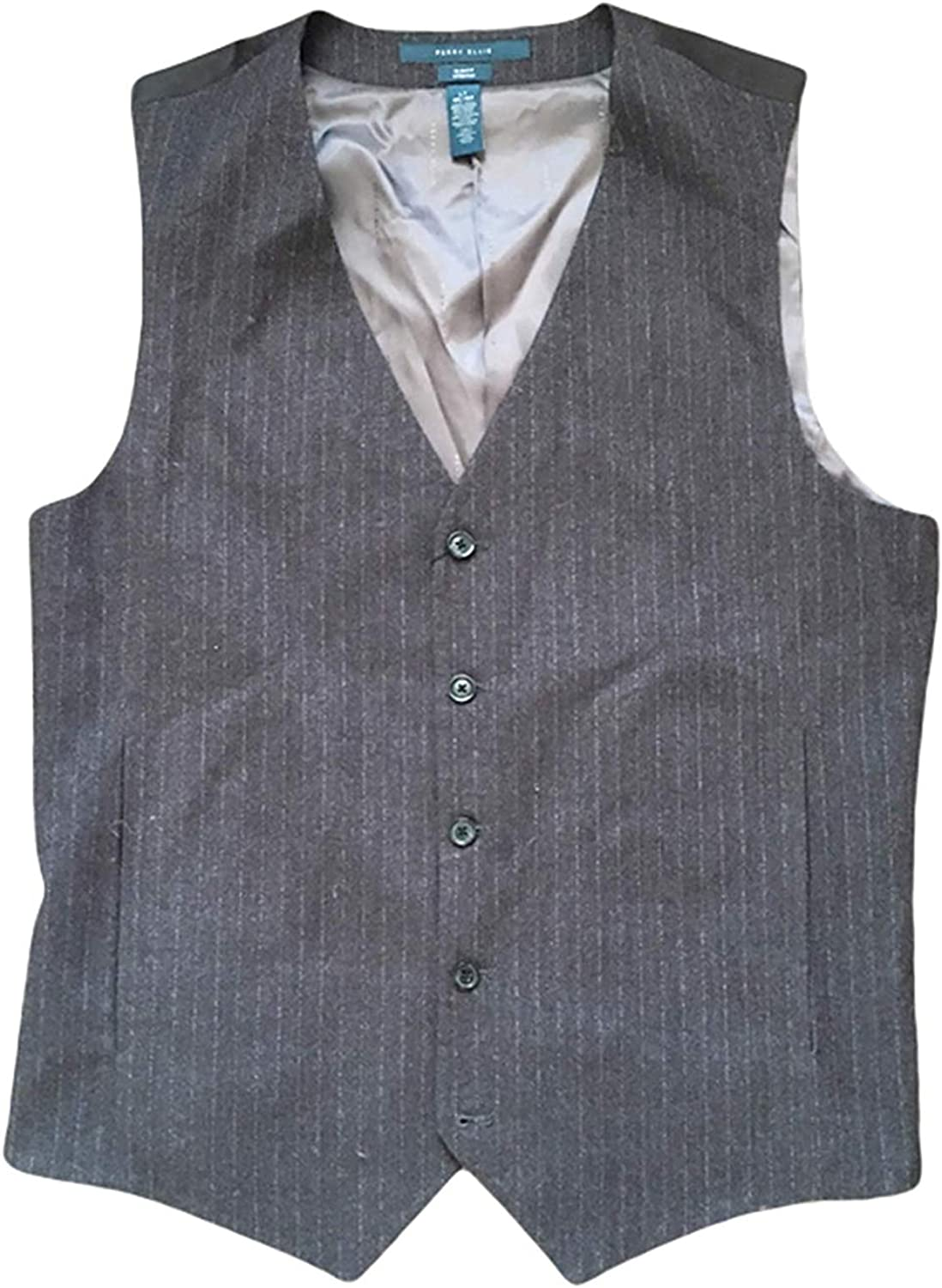 Perry Ellis mens Tall Size Slim Fit Total Stretch Heathered Stripe Vest