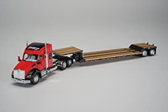 Case IH Kenworth T880 Sleeper Cab with Fontaine Renegade Lowboy Trailer 1/64 Diecast Model by Speccast ZJD1809