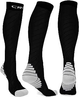 Hoperay Compression Socks Men Women Stocking,20-30mmhg Thick Sport Running Sock for Athletic Travel