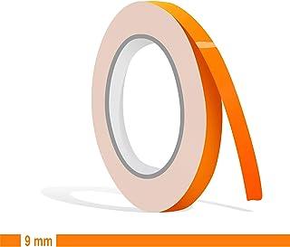 Siviwonder Zierstreifen neon orange in 9 mm Breite und 10 m Länge für Auto Boot Jetski Modellbau Klebeband Aufkleber Dekorstreifen Folie Neonorange Neonaufkleber Fluor