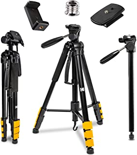 "KODAK PhotoGear 2-in-1 Tripod & Monopod | Lightweight 70"" 4-Section Flip-Lock Aluminum Tripod Converts to 64.5"" Monopod 