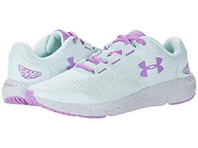 Under Armour Kids Charged Pursuit 2 (Big Kid) (Seaglass Blue/Halo Gray/Exotic Bloom) Girls Shoes