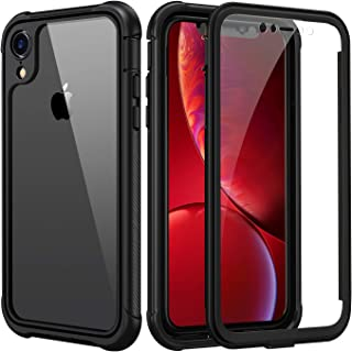 seacosmo Cover iPhone XR, 360 Gradi Rugged Custodia iPhone XR Antiurto Trasparente Case con Protezione Integrata dello Sch...