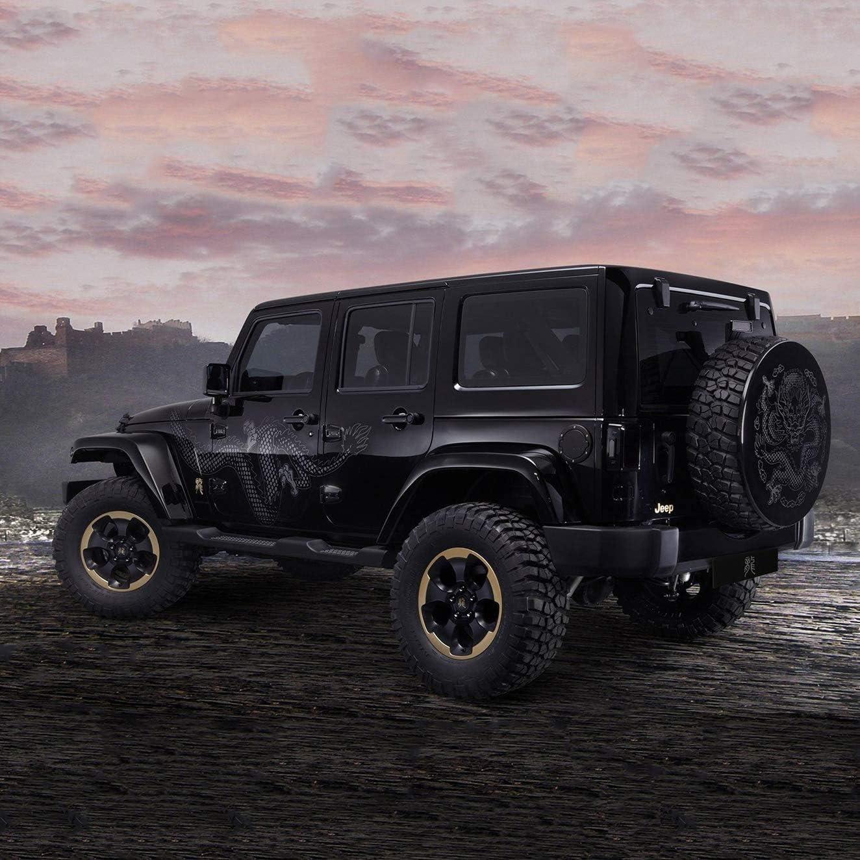 Black AIRKOUL Gas Cap Fuel Filler Door Cover for Jeep Wrangler ...