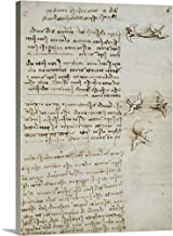 GREATBIGCANVAS Gallery-Wrapped Canvas Codex on The Flight of Birds, by Leonardo da Vinci, 1505-1506. Royal Library, Turin by Leonardo da Vinci 35