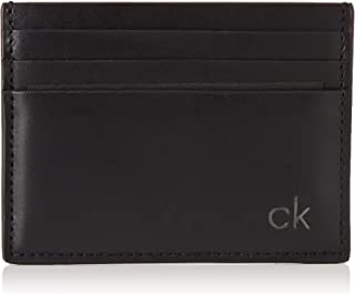 Calvin Klein Men's Smooth Ck Card Holder Credit Card Holder Black